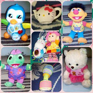 Peluches/juguetes y sonajeros, para bebés/niños/as