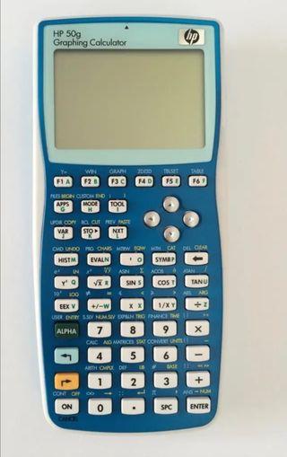 Calculadora HP 50g Azul y Blanca