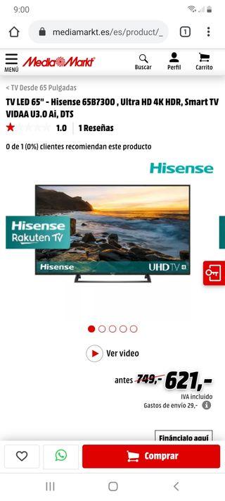 Hisense 65 UHD