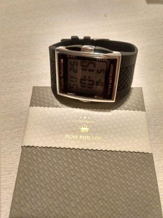 Reloj LED negro rectangular Skylab® Resistente