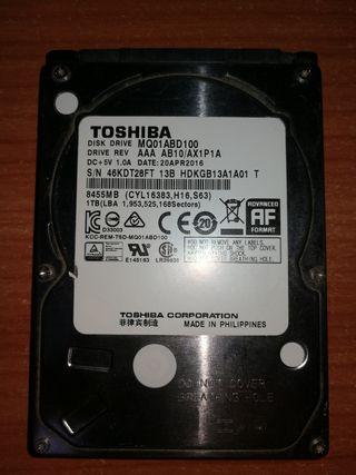Disco duro Toshiba 1 Tb de 2.5