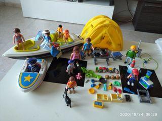 Playmobil,Campin,soldados,lote, acampada,lancha