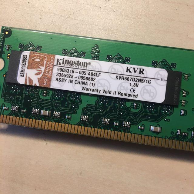 Memorias 1 Gb 667 Mhz DDR2