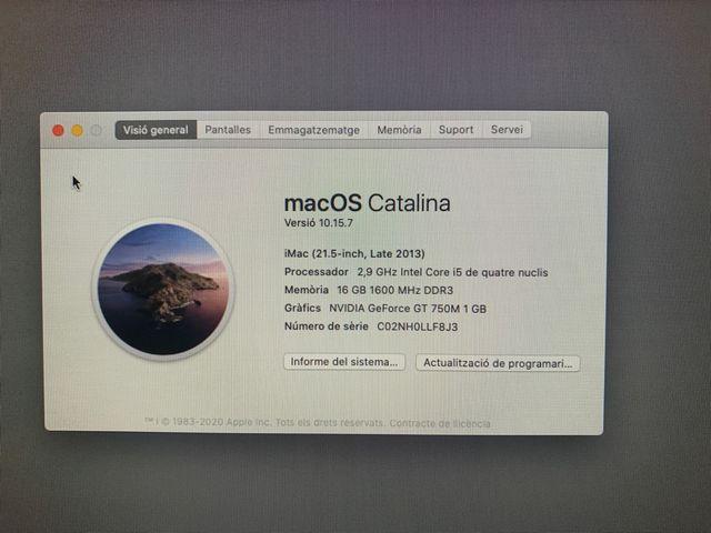 iMac 21.5, 16GB Ram, 500GB SSD