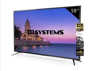 Television Smart TV 58 Pulgadas 4K, Android 9.0 y