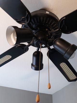lampara ventilador estilo colonial