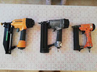 LOTE 3 pistolas neumáticas de clavos