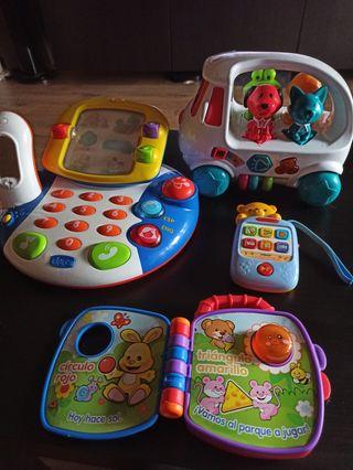 pack juguetes interactivos niños de 0 a 2 años
