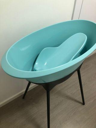 Bañera con asiento y soporte Luma