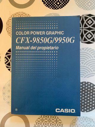 manual casio cfx 9850g 9950g