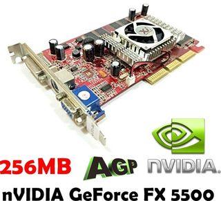 256MB nVIDIA GeForce FX 5500 DVI S_Video VGA