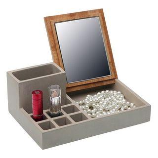 Caja-Joyero Madera Bambú maquillaje