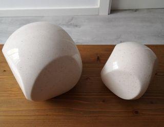 2 Figuras geométricas porcelana VINTAGE por 8€