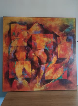 Cuadro de pintura abstracta