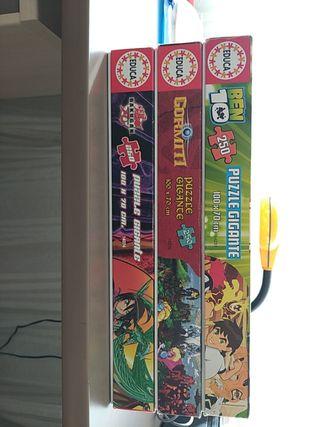 3 Puzzles Gigantes Bakugan, Ben 10 y Gormiti