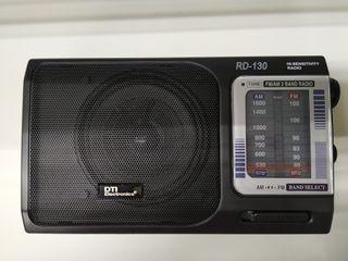 RADIO A CORRIENTE/PILA CON DOBLE BANDA