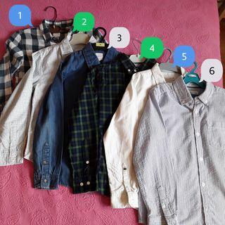 Camisas de niño.Tallas 7/8. 8€ unidad. Todas 42€