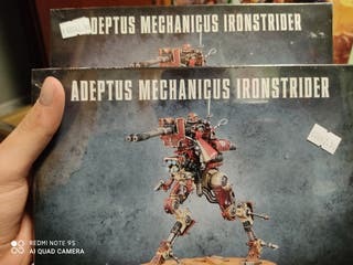2 cajas de ironstrider, mechanicus, warhammer mini