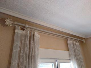 Barra blanca de cortina