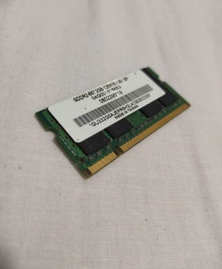 memoria RAM de portátil 2 GB