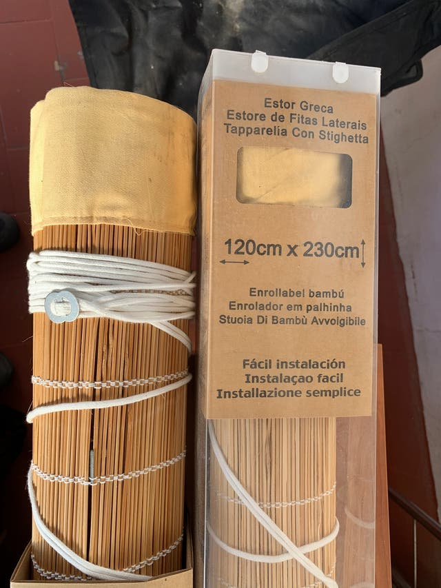 Estor/persiana de madera