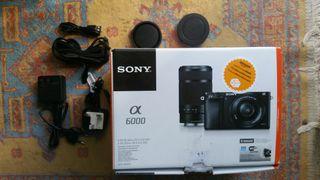 Cámara Sony A6000 + Objetivo 35mm 1.8 OSS + Extras