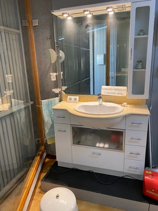 Mueble baño conjunto modular con lavabo