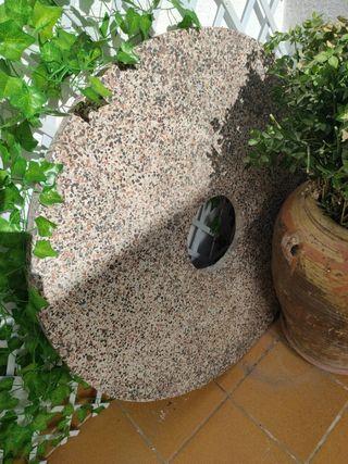 mesa de jardín/terraza con agujero central parasol