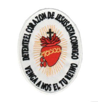 PARCHE BORDADO SAGRADO CORAZON