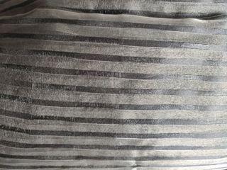 Cortinas/Visillos gris metalizado de riel