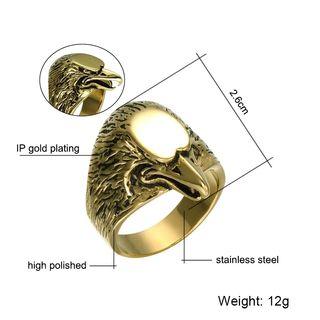 Hop Hop Biker Gold Color Stainless steel Eagle