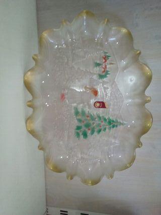 bandeja, frutero navideño