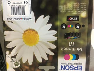 Cartucho tinta Epson multipack 18