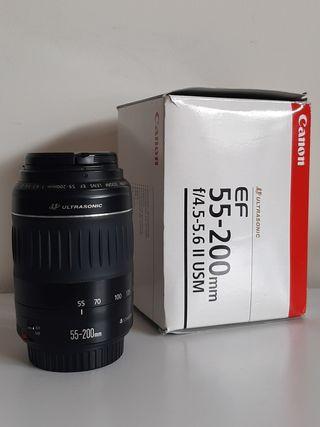 objetivo Canon EF 55-200 f/4.5 5.6 Ultrasonic II