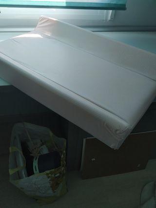 cambiador de mesa o cama plastificado