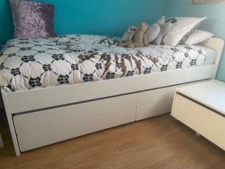 Cama nido SLAKT de Ikea + colchón cama nido