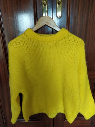 jersey amarillo de punto de Mango