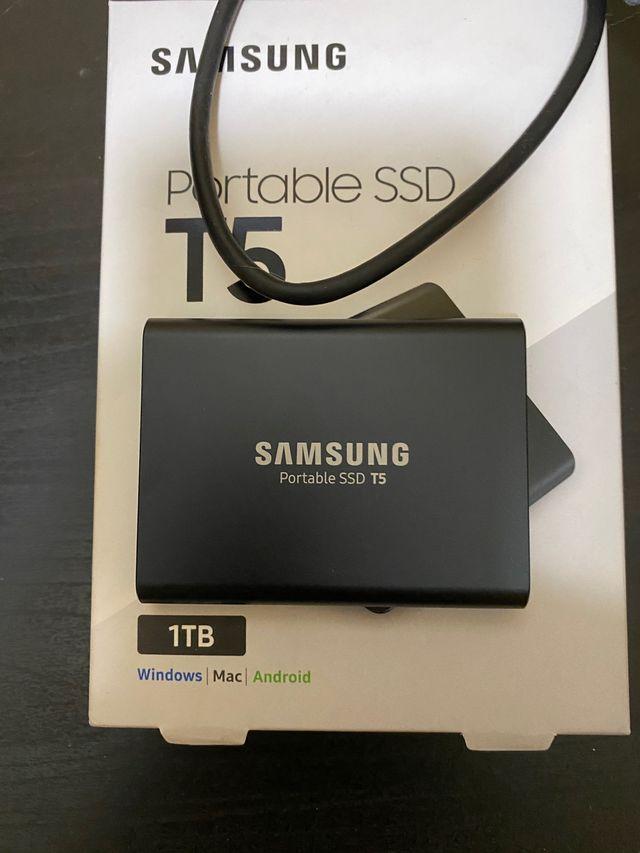 Disco duro externo ssd Samsung T5 de 1 tb nuevo