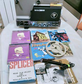 proyector antiguo super 8 y single 8 sonoro