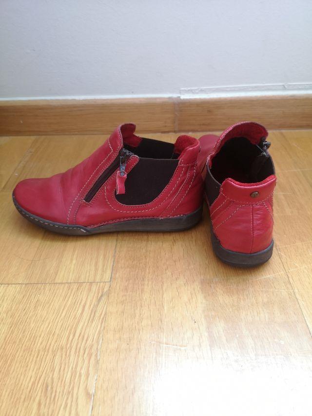 botín piel Rojo. 37