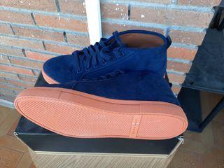 botas azules de Zara Man
