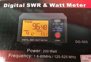 KPO-DG-503 Medidor MSWR+Watimetro HF/VHF/UHF 200W