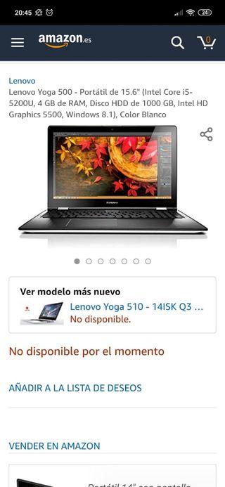 ordenador portatil/tablet lenovo yoga 500
