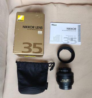Objetivo Nikkor 35mm F1.8 G AF-S DX para Nikon