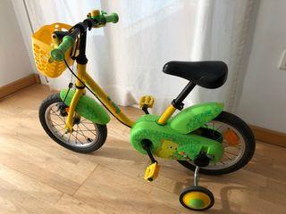 Bicicleta niña-niño
