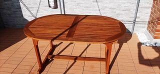 Mesa madera jardín-terraza extensible