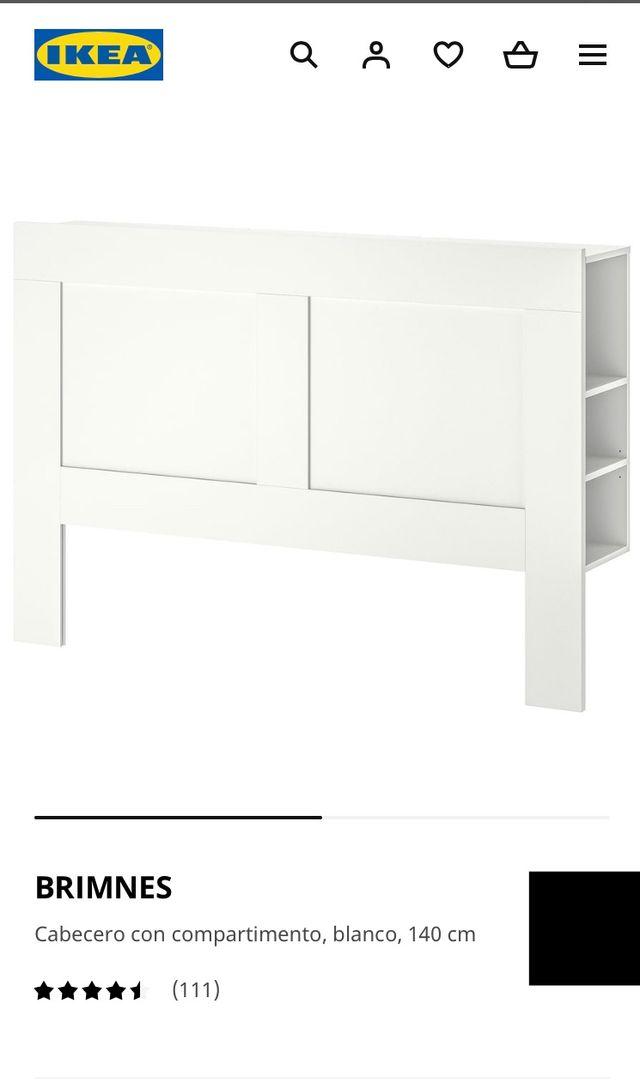 Cama + sommier + Cabecero IKEA + colchón