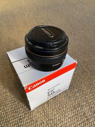 Objetivo canon 50 1.4 nuevo