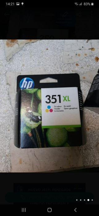 cartuchos de tinta HP 350 y 351 originales