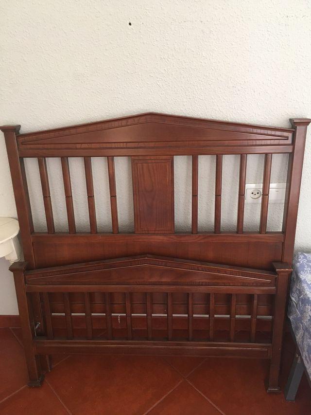 Cabecero y pie para cama en madera